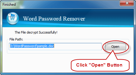 how to open word without password
