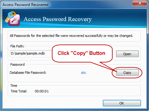 Register Access Password Recovery full version, then you can crack mdb