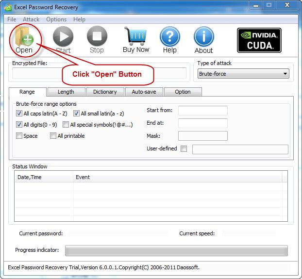 crack a password on an excel worksheet