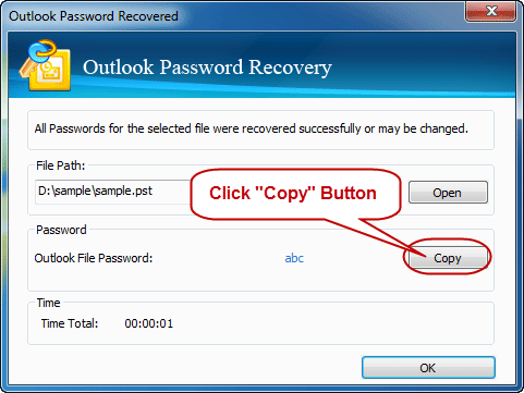 Success recover outlook email password