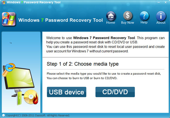 forgot password windows 7 professional no disk