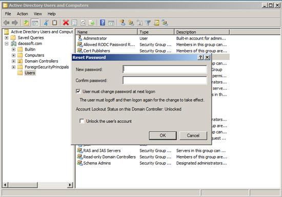 Reset Administrator/User Password on Windows Server 2008 R2