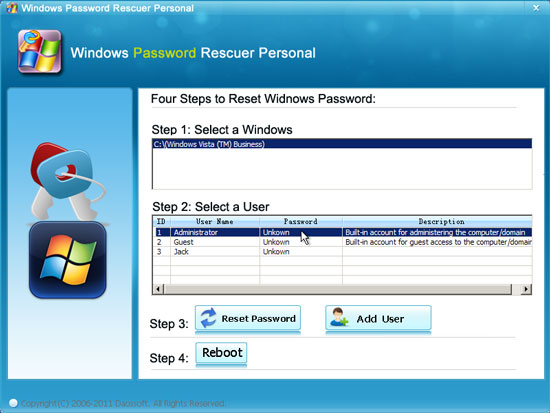 how can i reset my windows vista password without a disk